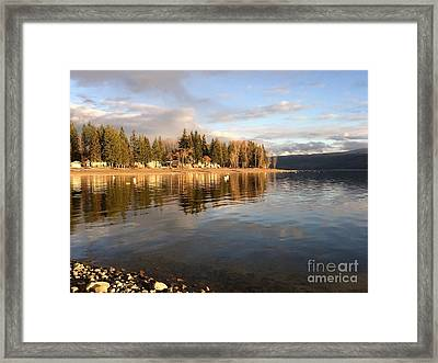 Evening By The Lake Framed Print by Victor K