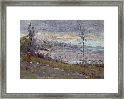 Evening By The River Framed Print by Ylli Haruni