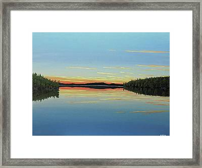 Evening Calm Framed Print by Kenneth M Kirsch