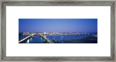 Evening Charleston Sc Framed Print