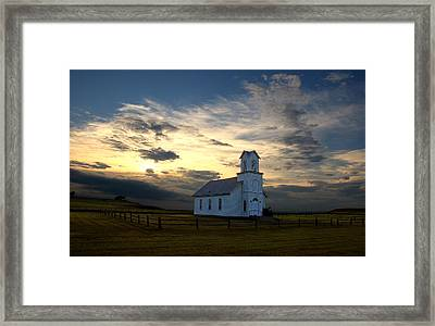 Evening Church Framed Print by Christopher McKenzie
