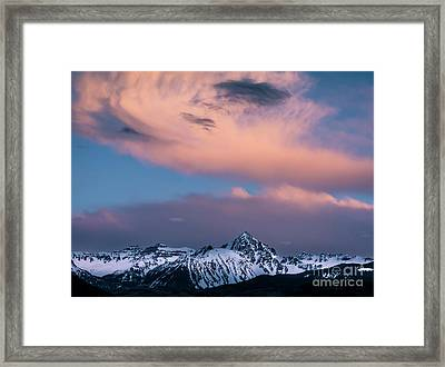 Framed Print featuring the photograph Evening Clouds Sneffels Range by The Forests Edge Photography - Diane Sandoval