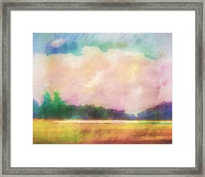 Evening Colorplay Framed Print