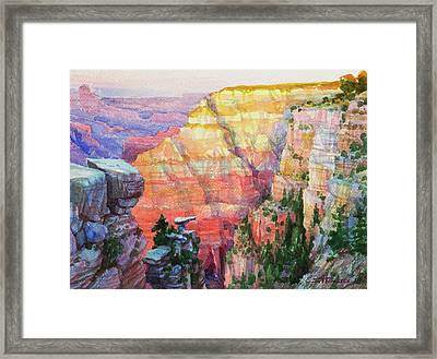 Evening Colors  Framed Print