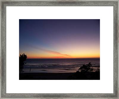 Framed Print featuring the photograph Evening Comes by Angi Parks