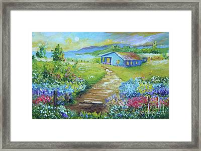 Evening Country Side Framed Print
