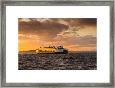 Evening Crossing Framed Print