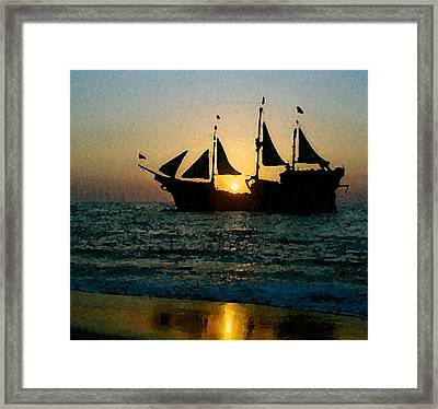 Evening Cruise Framed Print by Brent Easley