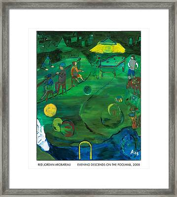 Evening Descends On The Poolhall Framed Print by Red Jordan Arobateau