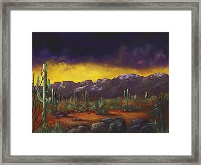 Evening Desert Framed Print by Anastasiya Malakhova