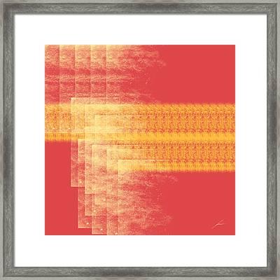 Evening Framed Print by Diretorio do Design