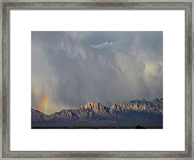 Evening Drama Over The Organs Framed Print by Kurt Van Wagner