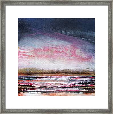 Evening Druridge Bay Northumberland Framed Print by Mike   Bell