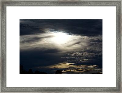 Evening Eye Framed Print by Jason Coward