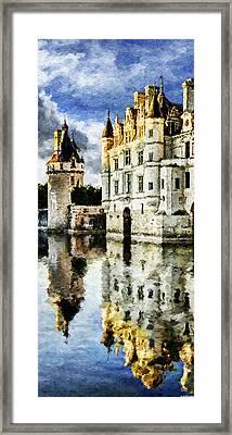 Evening Falls At The Castle Framed Print