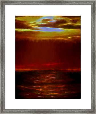 Evening Fire Framed Print by Dan Sproul
