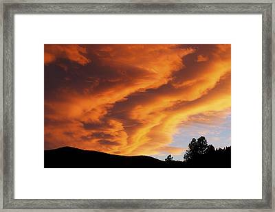 Evening Fire Framed Print