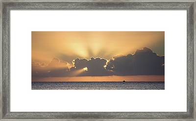 Evening Fishing Framed Print