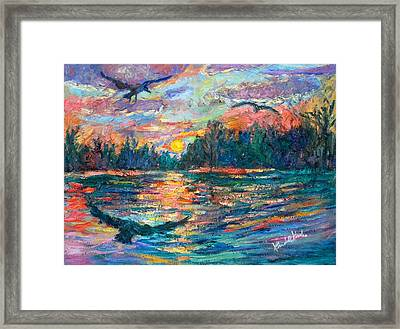 Framed Print featuring the painting Evening Flight by Kendall Kessler