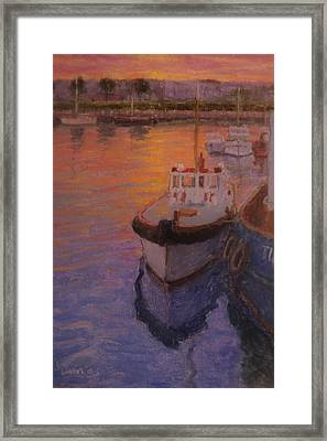 Evening Gisbourne Harbour Framed Print