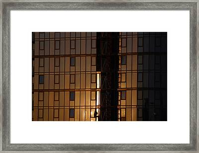 Evening Glass Framed Print by Jez C Self