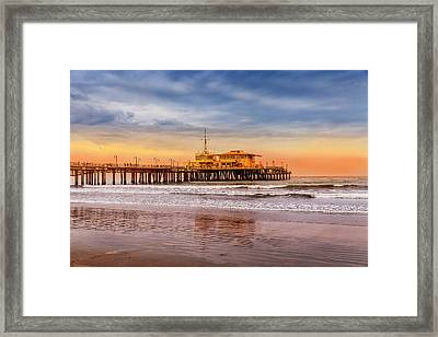 Evening Glow At The Pier Framed Print