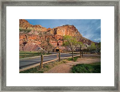 Evening Glow Capitol Reef Framed Print
