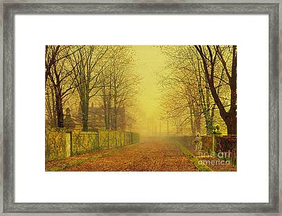 Evening Glow Framed Print by John Atkinson Grimshaw