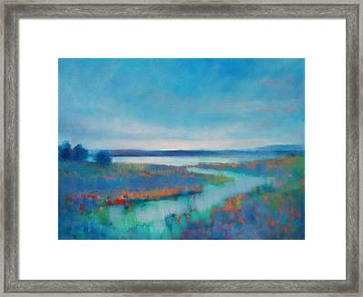 Evening Glow Framed Print by Linda Puiatti
