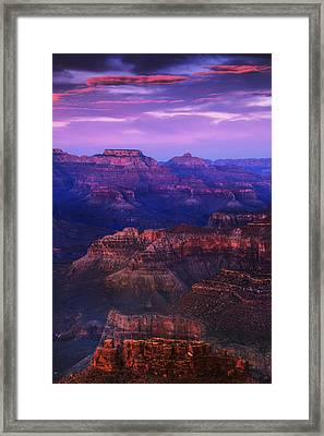 Evening Grand Canyon Drama Framed Print