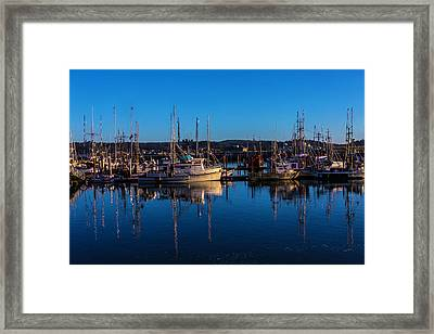 Evening Harbor Framed Print by Garry Gay