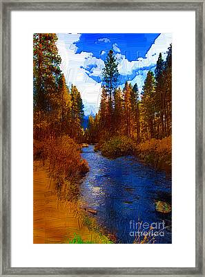 Evening Hatch On The Metolius Painting Framed Print by Diane E Berry