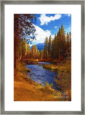 Evening Hatch On The Metolius River Painting 2 Framed Print