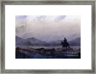 Evening Horseback Ride Framed Print