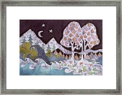 Evening In A Gentle Place Framed Print