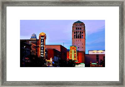 Evening In Ann Arbor Framed Print