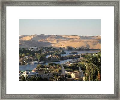 Evening In Aswan Framed Print