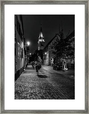 Evening In Bergheim Framed Print