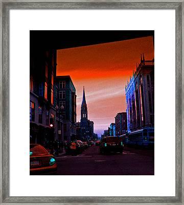 Evening In Boston Framed Print