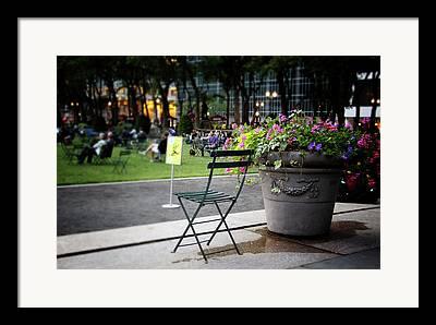 Bryant Park New York Framed Prints