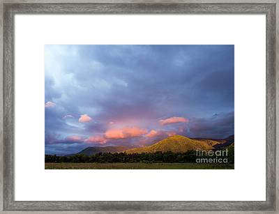 Framed Print featuring the photograph Evening In Cades Cove - D009913 by Daniel Dempster