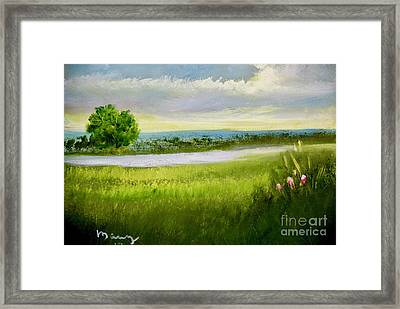 Evening In Calm Framed Print