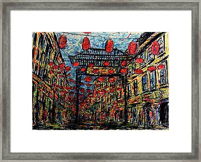 Evening In Chinatown, London Framed Print by K McCoy