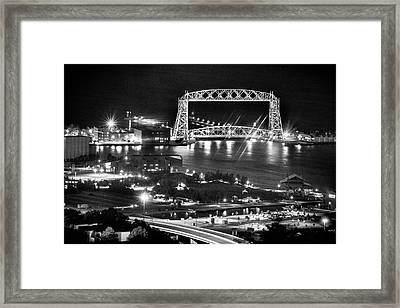 Framed Print featuring the photograph Evening In Duluth by Bill Pevlor
