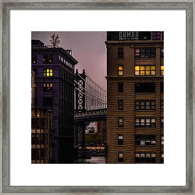 Evening In Dumbo Framed Print by Chris Lord