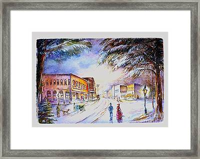 Evening In Dunnville Framed Print