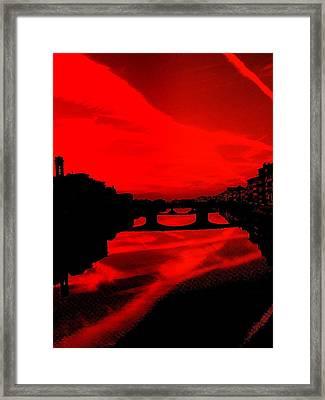 evening in Florence Framed Print