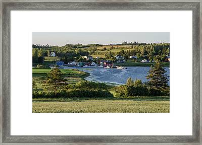 Framed Print featuring the photograph Evening In French River, Pei. by Rob Huntley