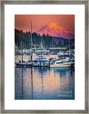 Evening In Gig Harbor Framed Print