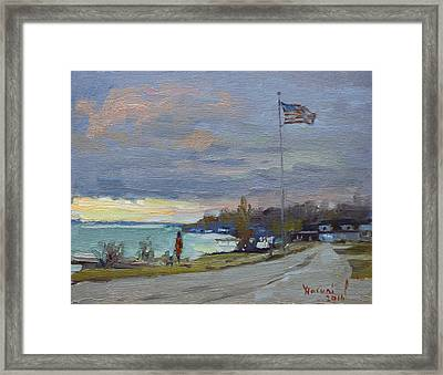 Evening In Gratwick Waterfront Park Framed Print by Ylli Haruni